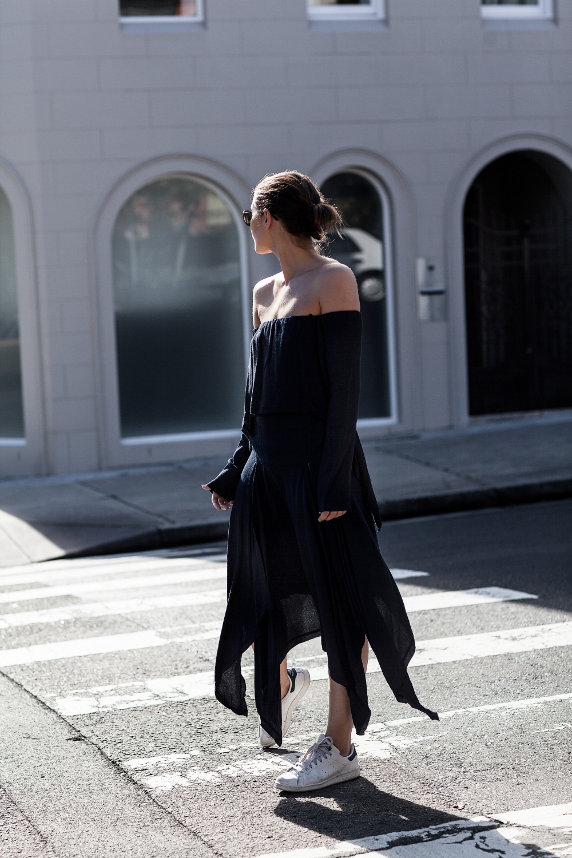 KITX navy suspended backless dress | street style | Australia Fashion Designer | Harper and Harley