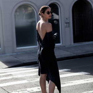 KITX navy suspended backless dress | street style | Australia Fashion Designer | Harper and Harley