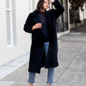 navy coat | style | outfit | HarperandHarley