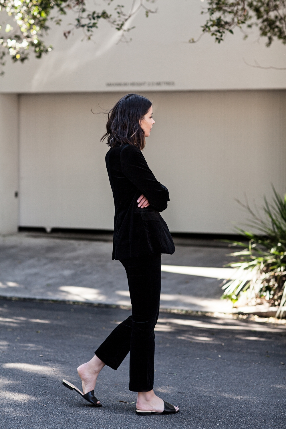 Black Velvet Suit | Blazer | Frame Denim | The UNDONE | HarperandHarley