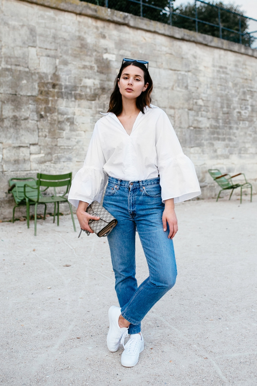 dda8d95f5eb Harper and Harley | White Shirt | Tome | Blue Denim Levis | Style | Outfit  ...