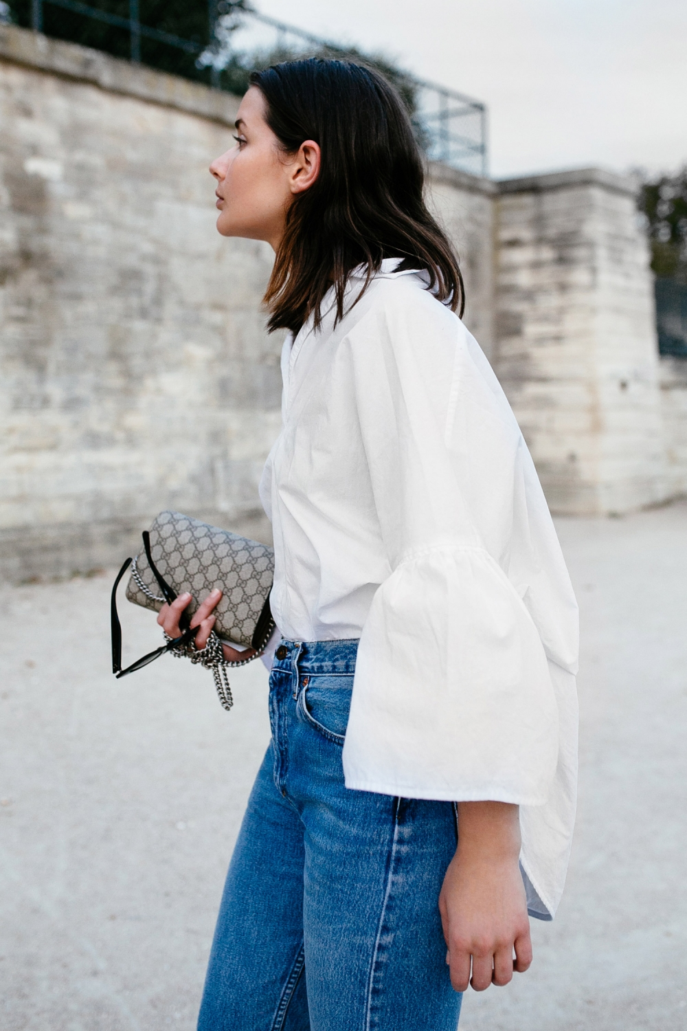 Harper and Harley | White Shirt | Tome | Blue Denim Levis | Style | Outfit