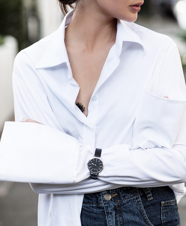 White Shirt | Blue Denim | Style | Outfit | HarperandHarley
