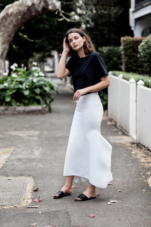 Toni Maticevski white skirt | Eminence | style | Outfit | HarperandHarley