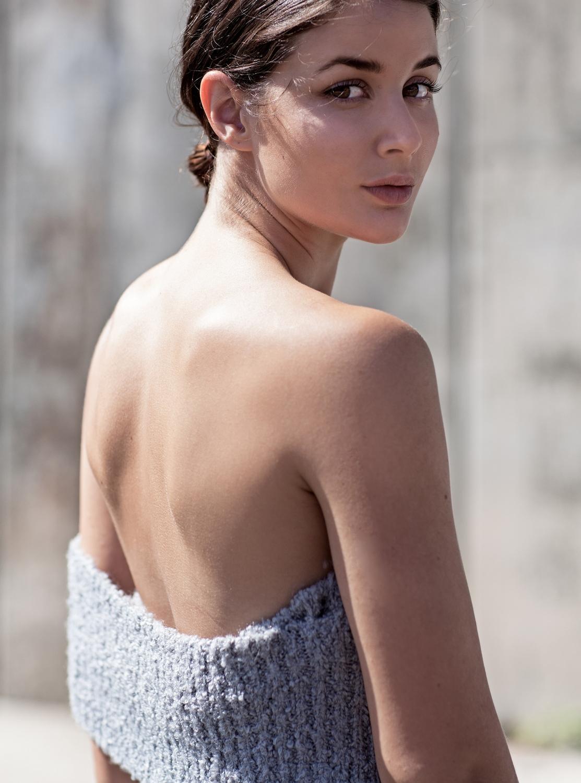 ANNA QUAN   grey knit dress   off the shoulder dress   Australian Designer   Blogger   Style
