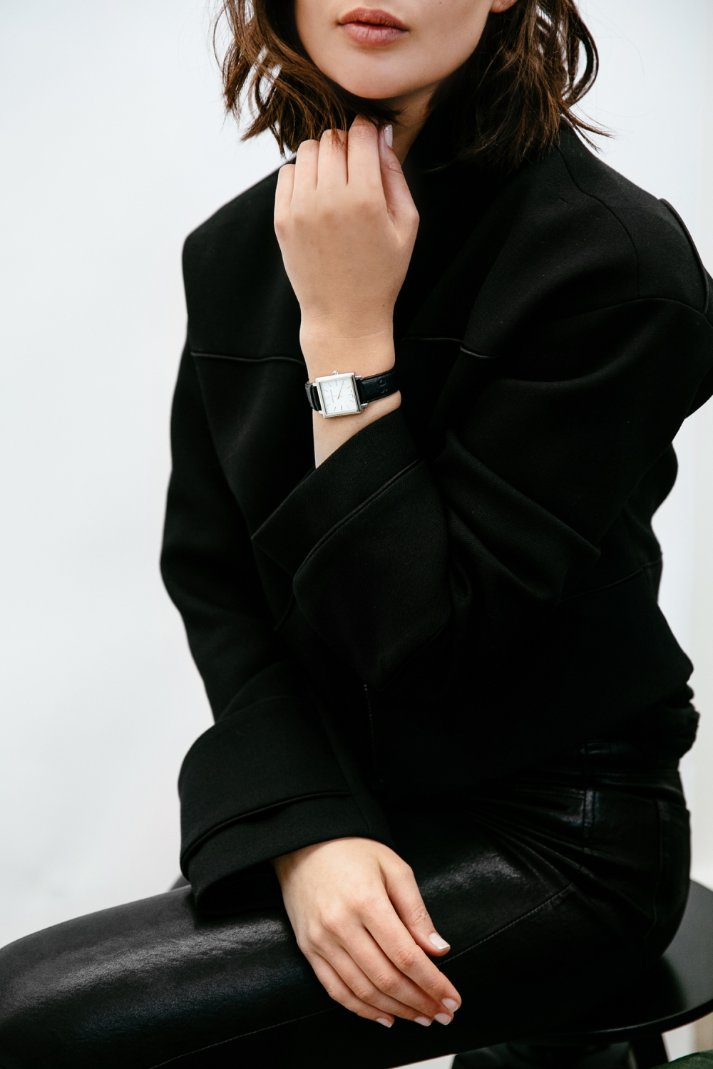 Larsson and Jennings black and silver square watch | time | HarperandHarley