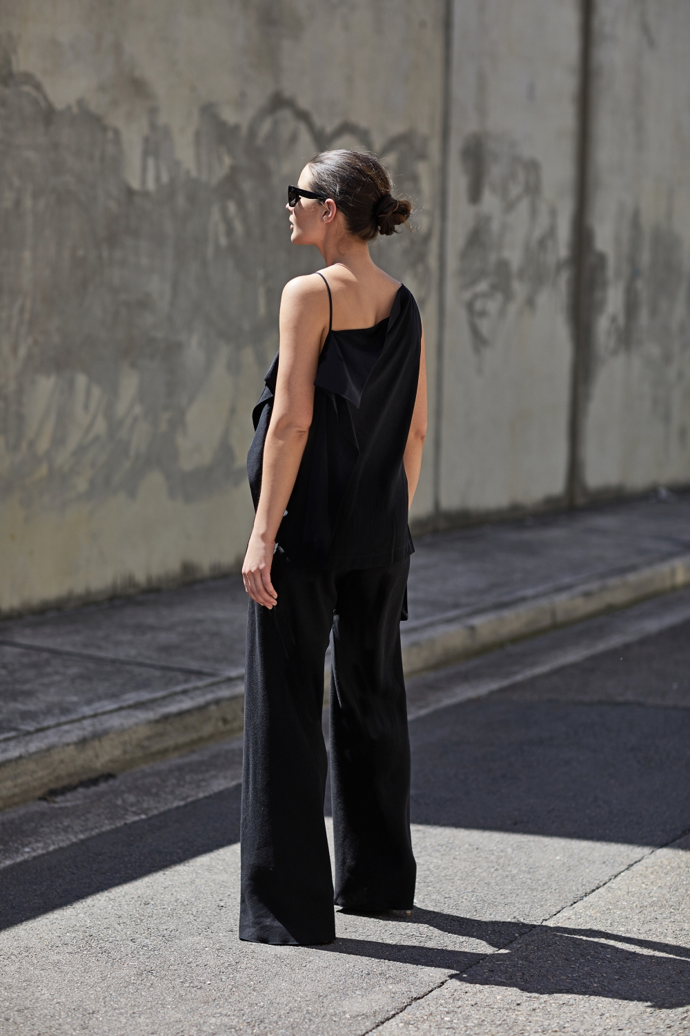 DION LEE Axis asymmetric cami top | Black Pants | Style | Outfit | HarperandHarley