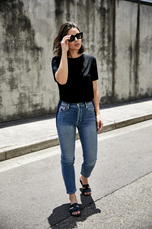 Frame Denim | Dark patch details | Style | Outfit | HarperandHarley