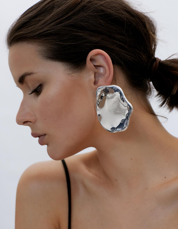 Silver Earrings   All Blues   Egg White   Harperandharley