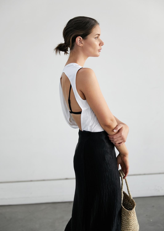 Open back white tank | Kacey Devlin | Style | Summer | HarperandHarley