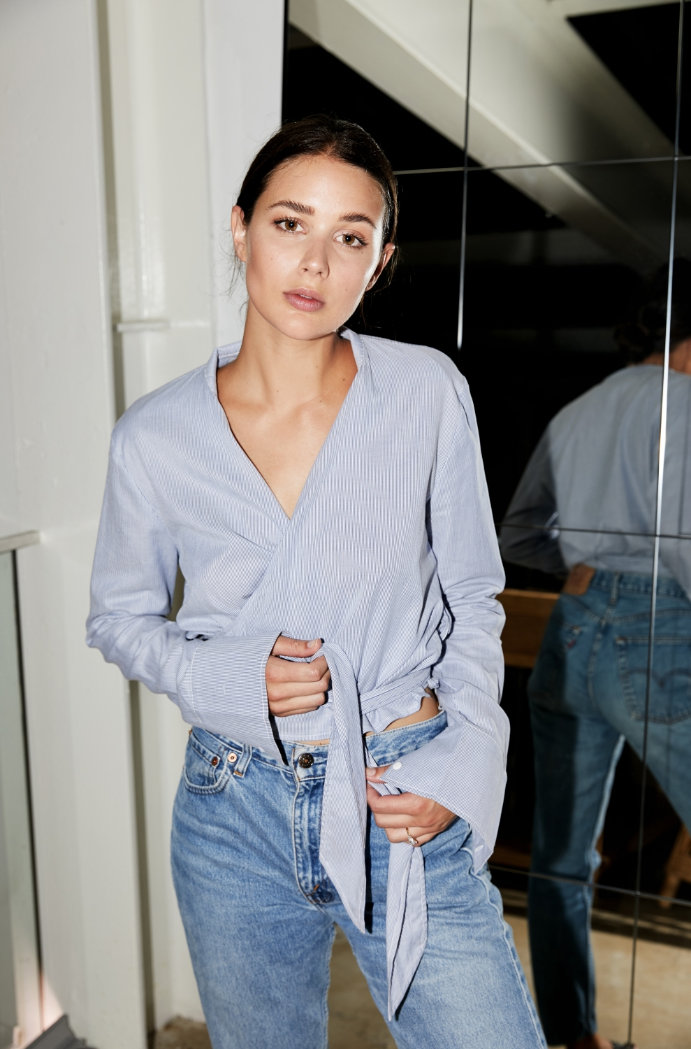 Harper and Harley | Sara Donaldson | Blue Shirt | Blue Jeans | Vintage Levis | Style | Outfit