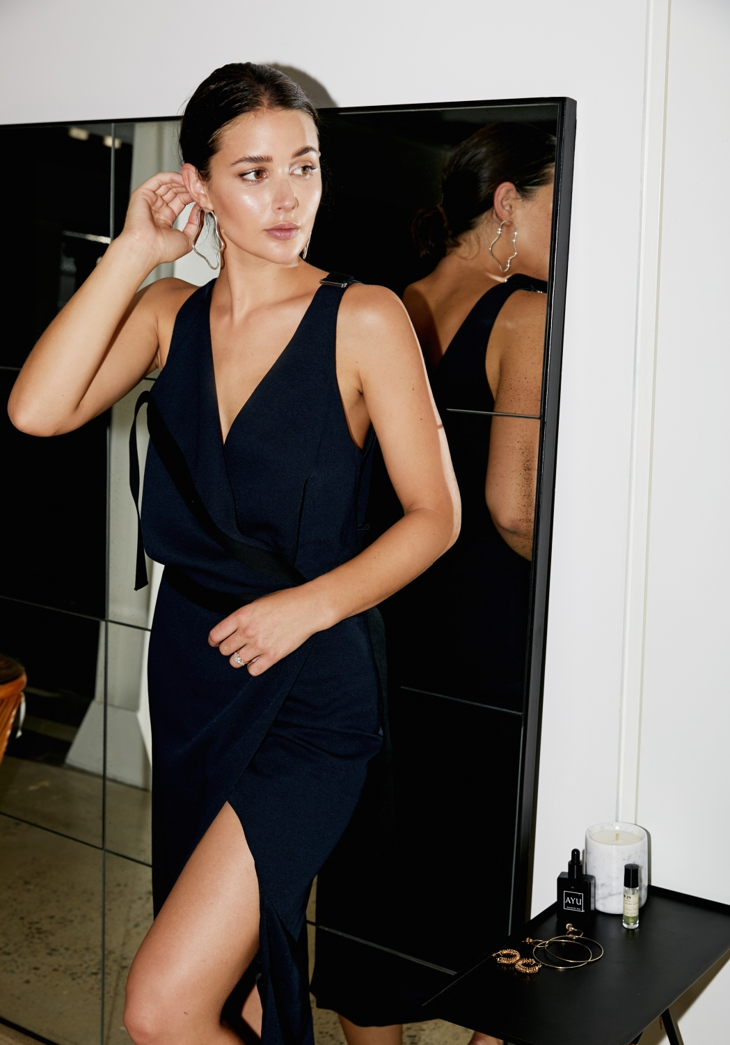 harper and harley_Dion Lee_Date night dress_navy_3