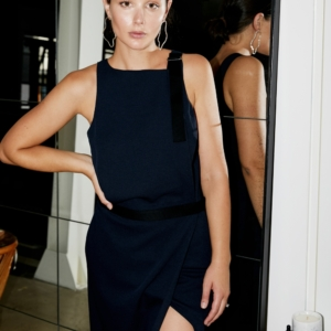 Dion Lee Navy Dress | Date Night Dressing | HarperandHarley