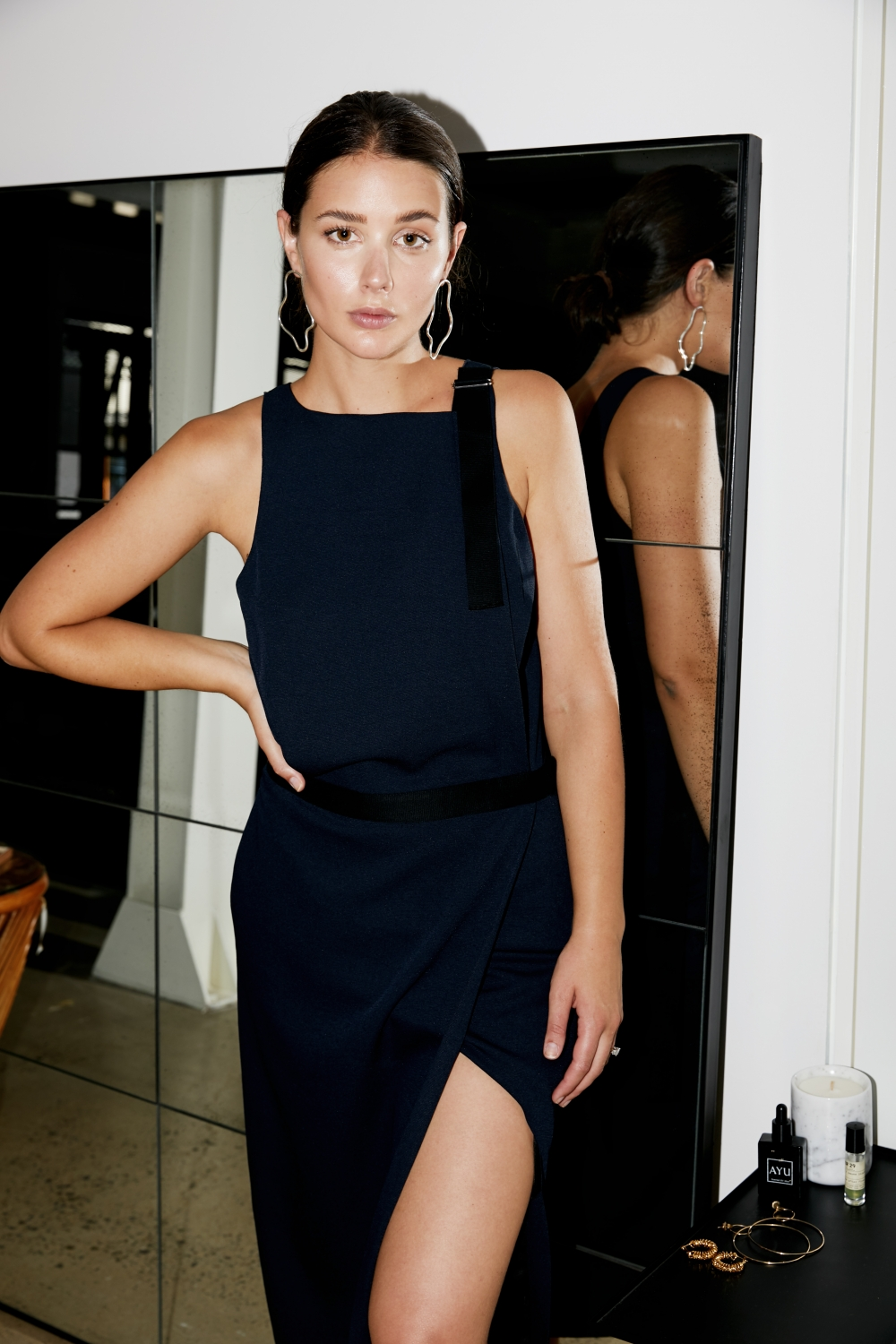 Dion Lee Navy Dress | Date Night Dressing | HarperandHarley