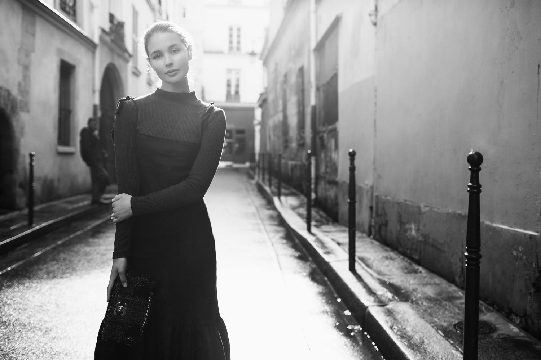 Paris Street Style   Chanel tweed bag   Harper and Harley