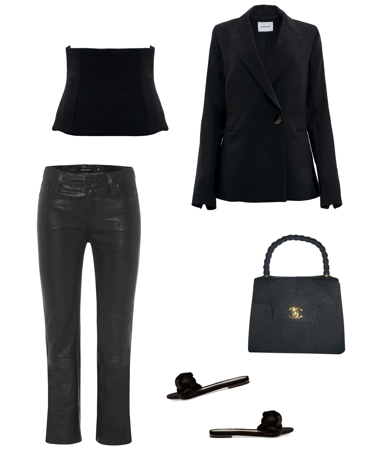 all black outfit | Harper and Harley