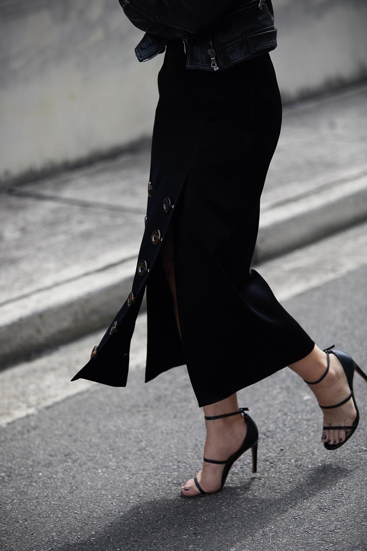 Ellery skirt | buttons | tortoise shell | outfit | style | HarperandHarley