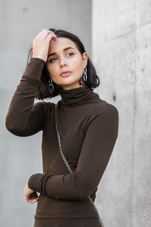 street style   mbfwa   Australian fashion week   brown   neutral   short hair   brunette   harperandharley