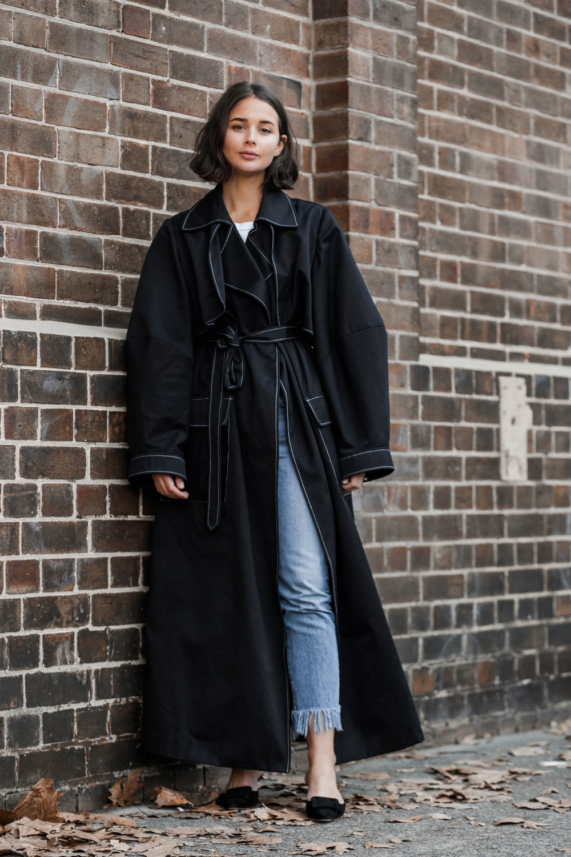 mbfwa | street style | fashion week | michael lo sordo coat | harperandharley