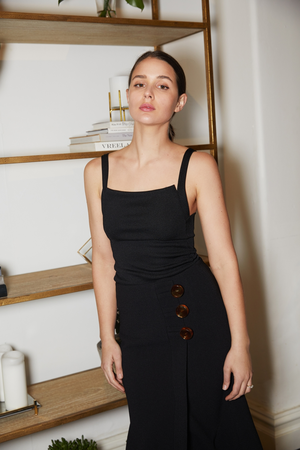 Christopher Esber black singlet and resin button skirt | Australian Designer | HarperandHarley