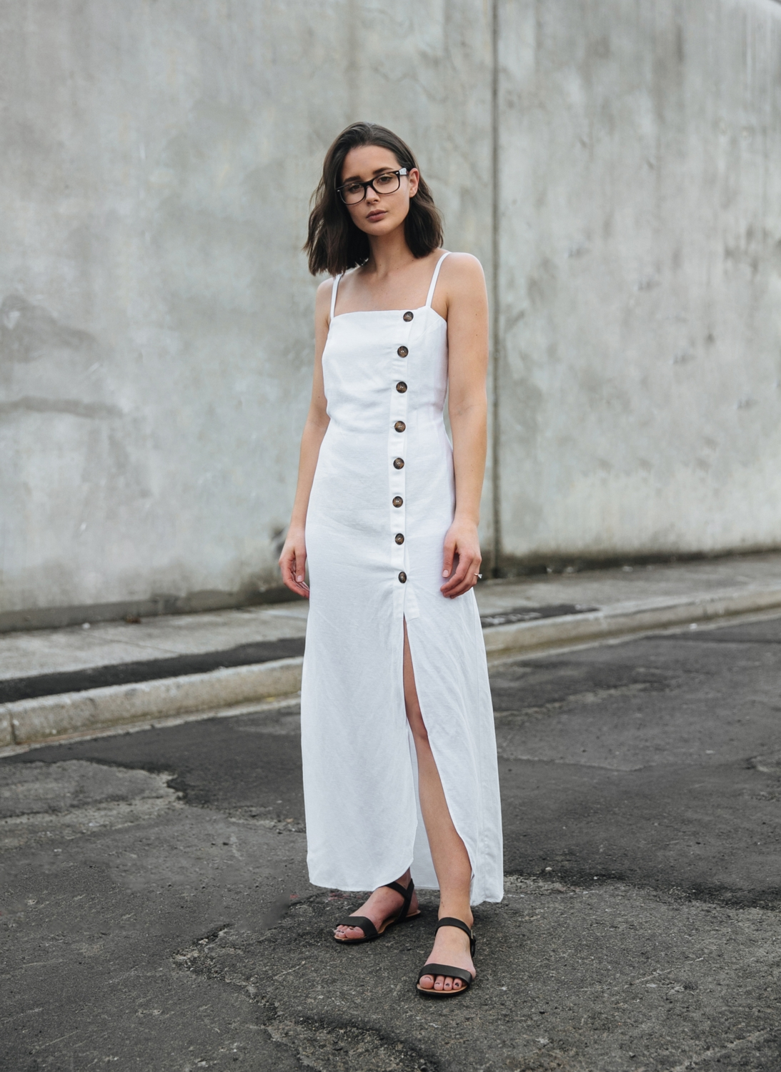 OPSM Ray Ban glasses | white Reformation dress |style | outfit | HarperandHarley