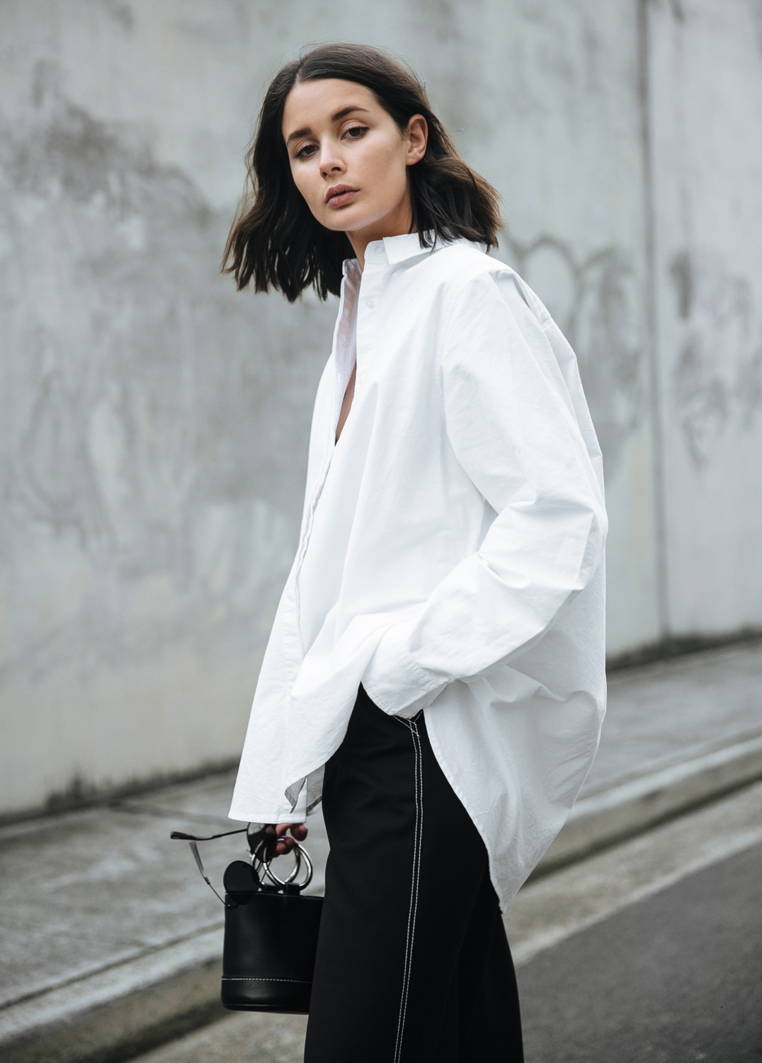 Just, Relax   Oversized clothing   Black and white outfit   Style   Outfit   HarperandHarley