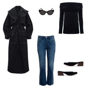 Michael Lo Sordo black coat | Paris Georgia Basics | Mari Giudicelli Leblon mules | HarperandHarley shopping edit