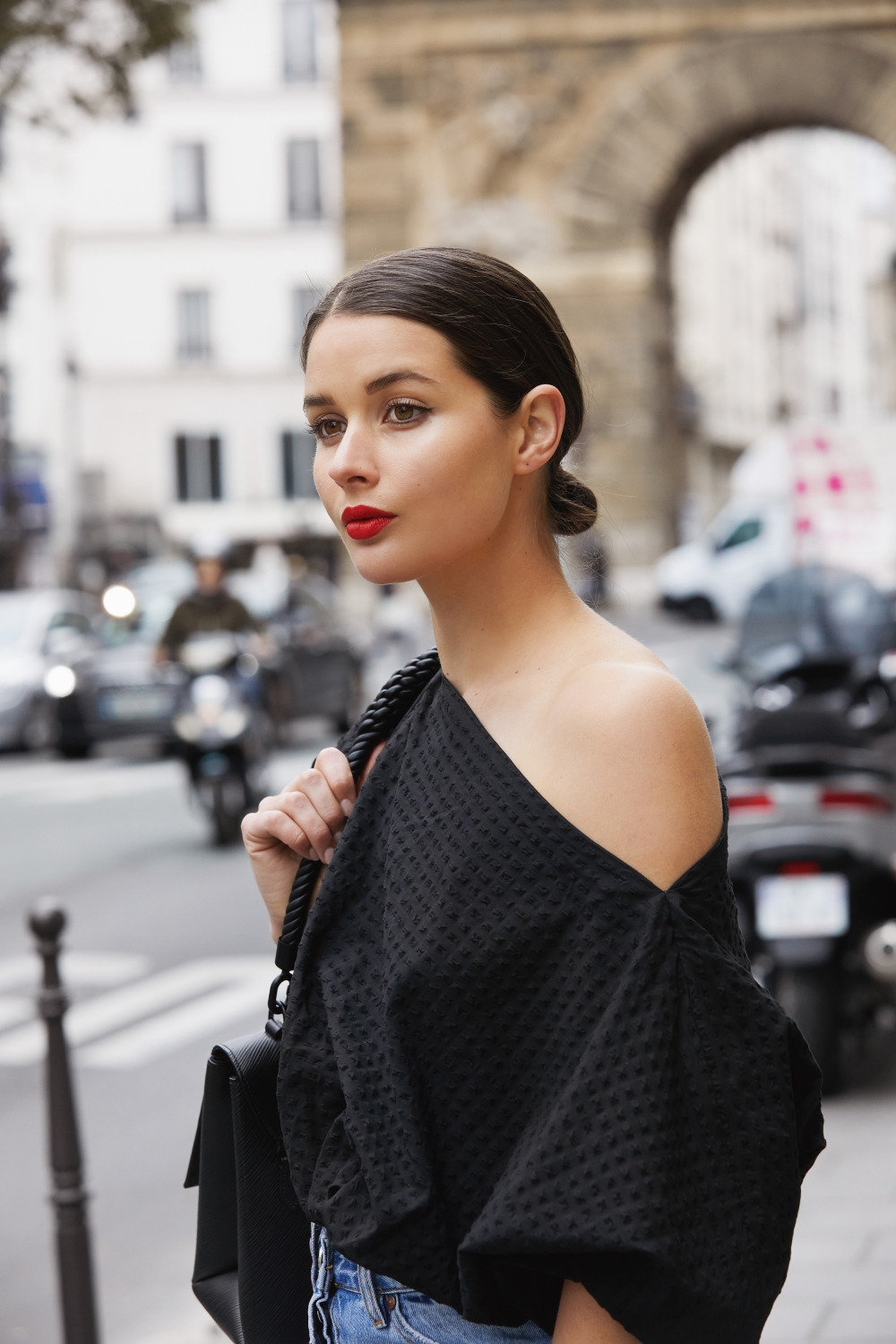Black and Denim in Paris | Red Lipstick | Beauty | HarperandHarley