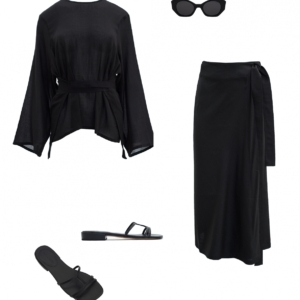 all black resort outfit