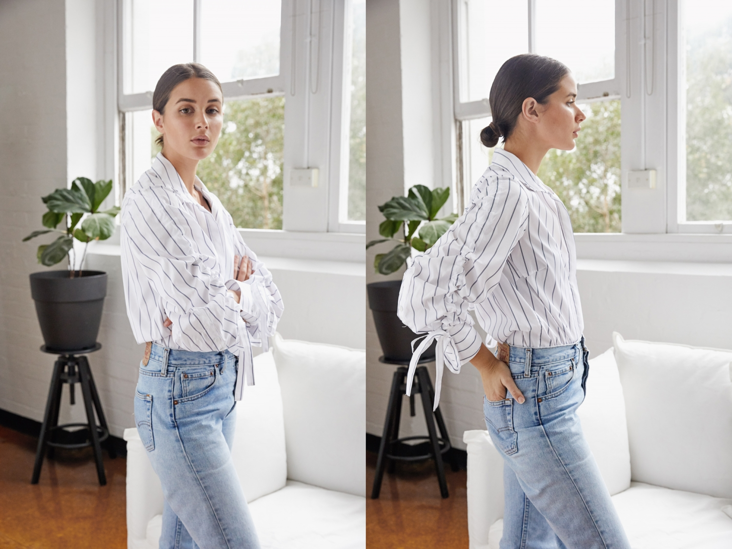 Essential White Shirt | Blue jeans | HarperandHarley