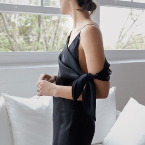 black slip dress | Christopher Esber | HarperandHarley
