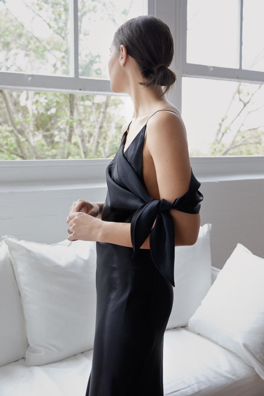 black slip dress | Christopher Esber | HarperandHarley