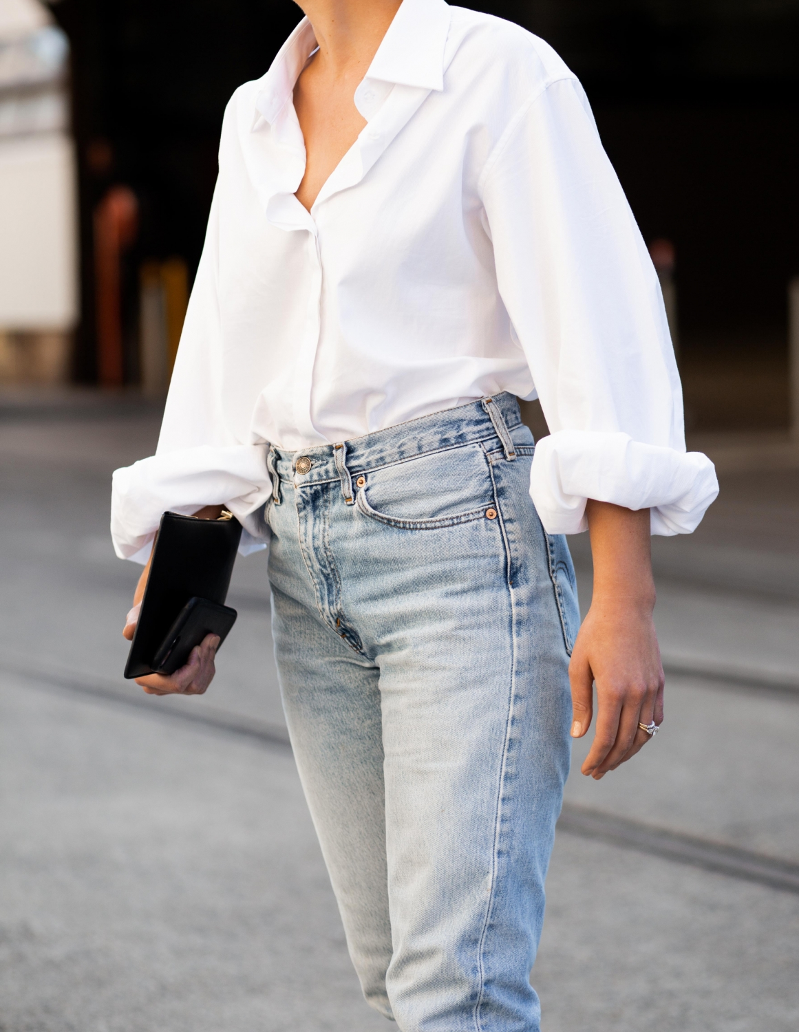Fashion Week | Sydney | MBFWA | White shirt and blue jeans | style | outfit | Harper and Harley