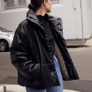 Black Nanushka puffy jacket | Vintage Levis | black ATP boots | outfit | Street Style | Harper and Harley