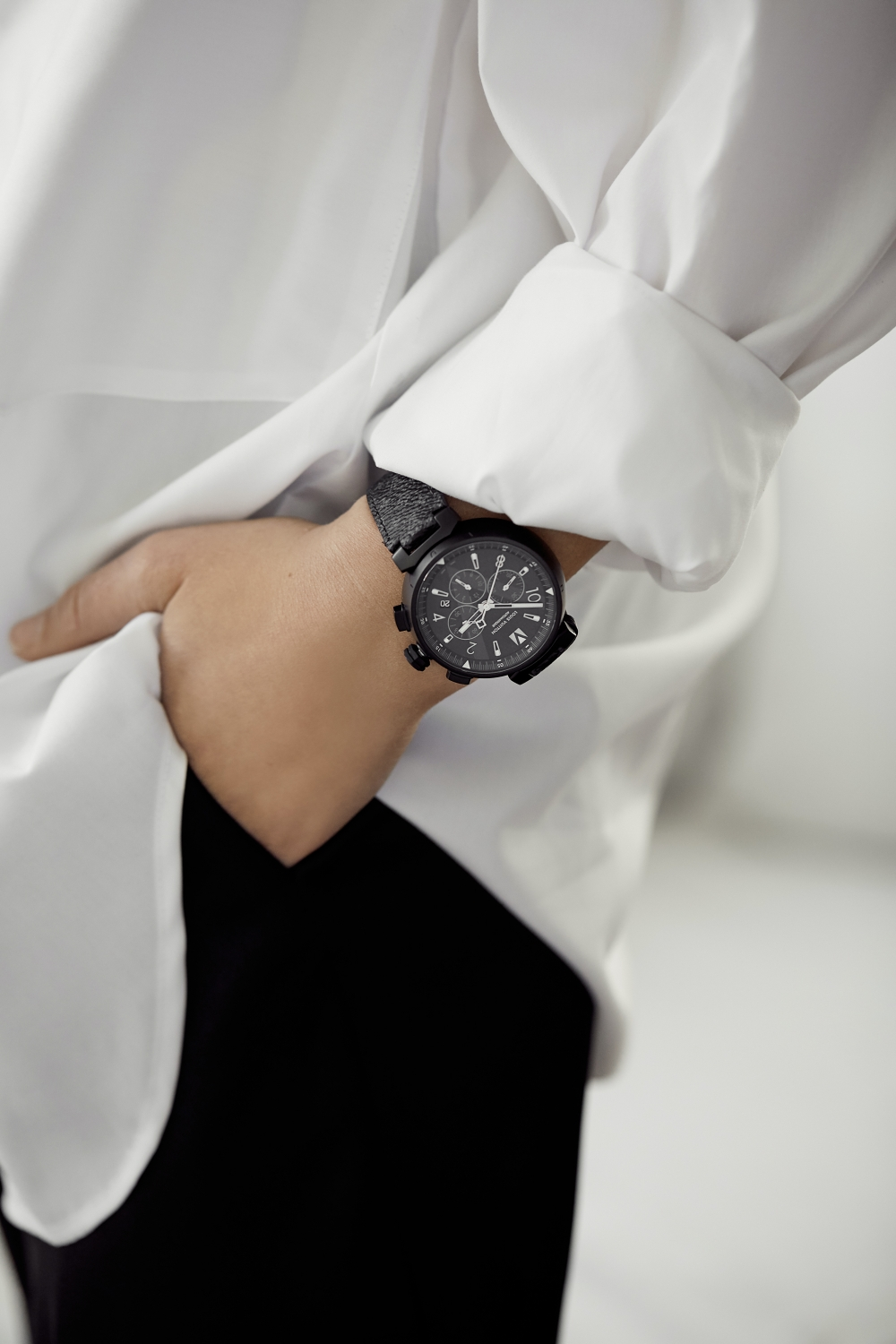 Wear your boyfriends watch | Louis Vuitton | Black and White outfit | HarperandHarley