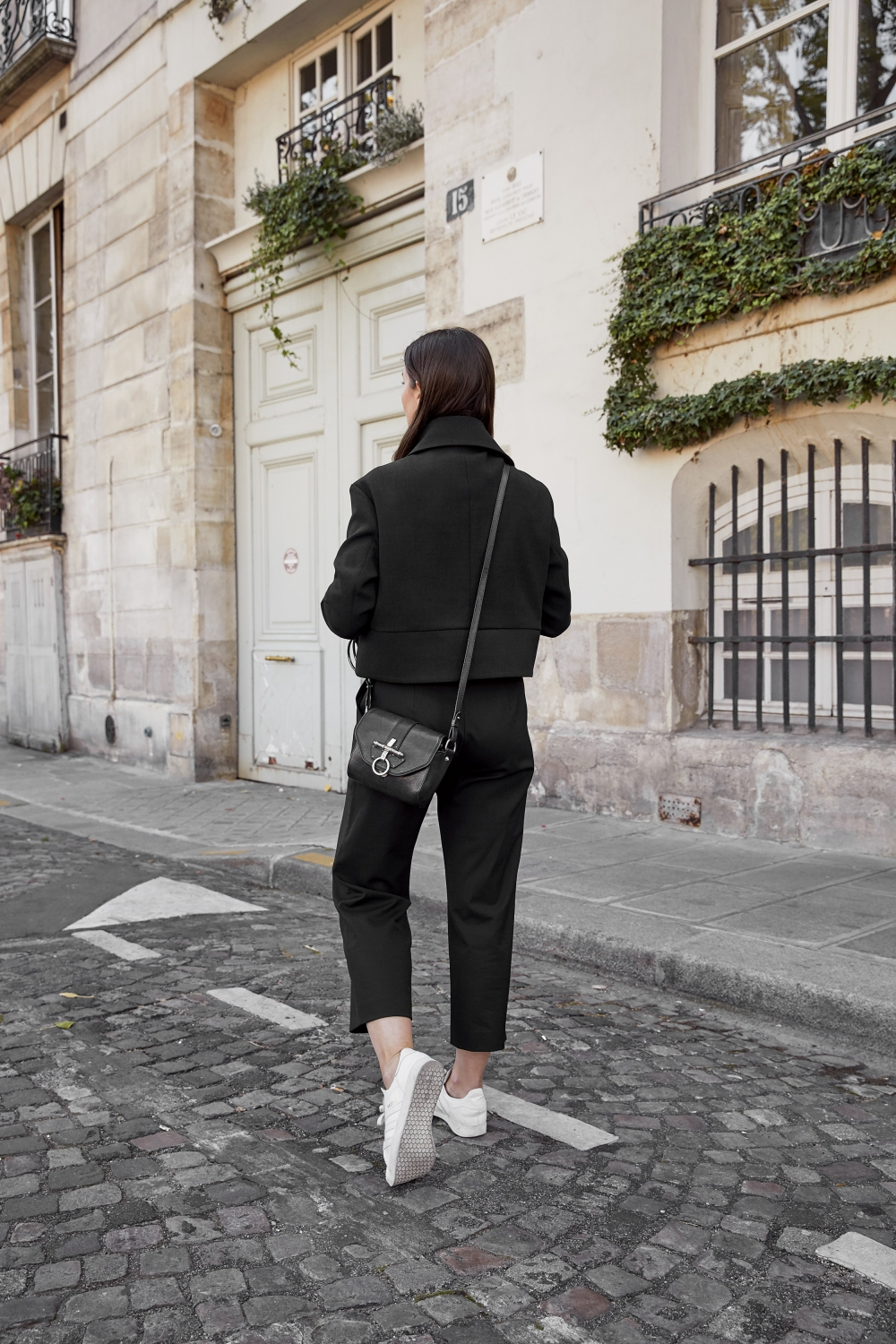 All Black Outfit | Paris Georgia Jacket | Harper and Harley in Paris