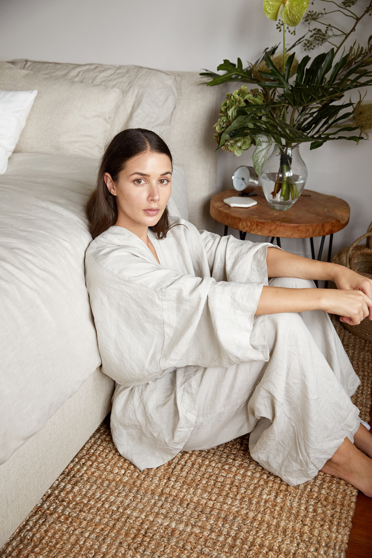 Harper and Harley | King Furniture Bed | Neutral Linen