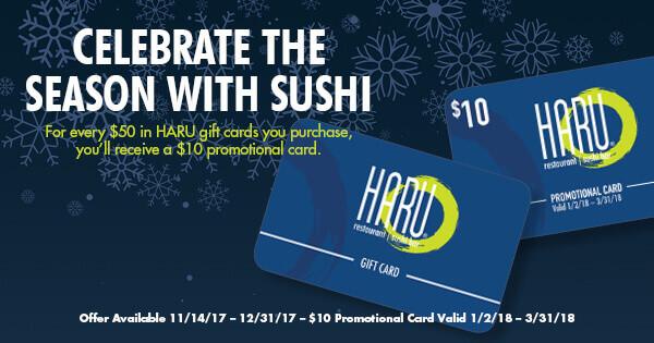 Haru Holiday Gift Cards