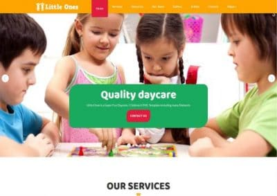 Daycare website designs, childcare website, childcare business, non-profit website