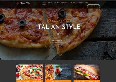 pizza business, pizza delivery, web design webster ny, web design greece ny