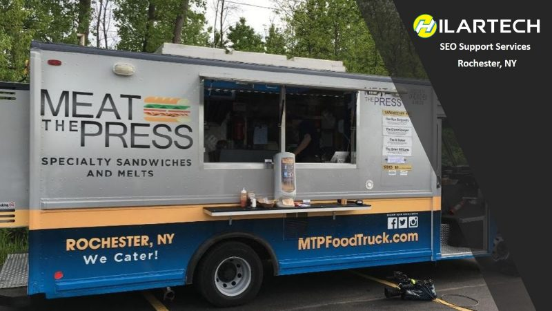 food truck locations, meat the press seo client
