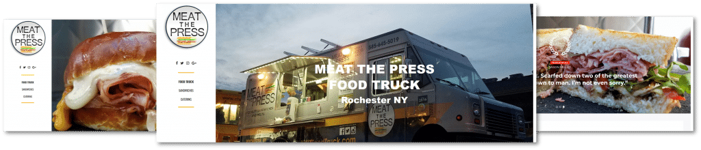meat the press website, wordpress design for meat the press