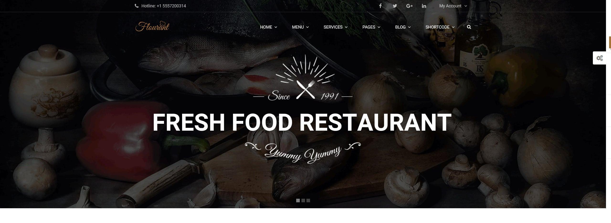 restaurant website, wordpress website design services