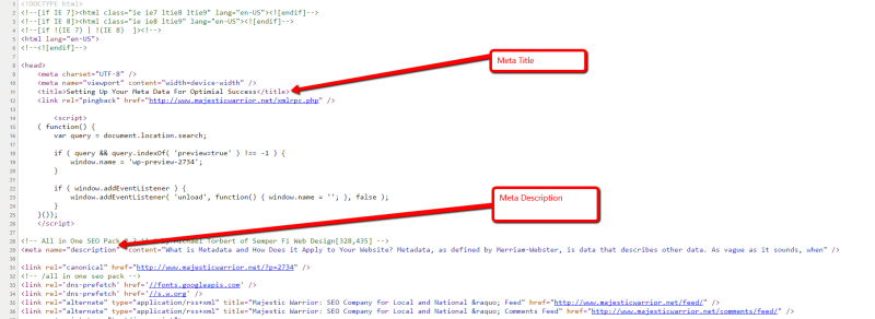 html code example, how to write html code for meta description