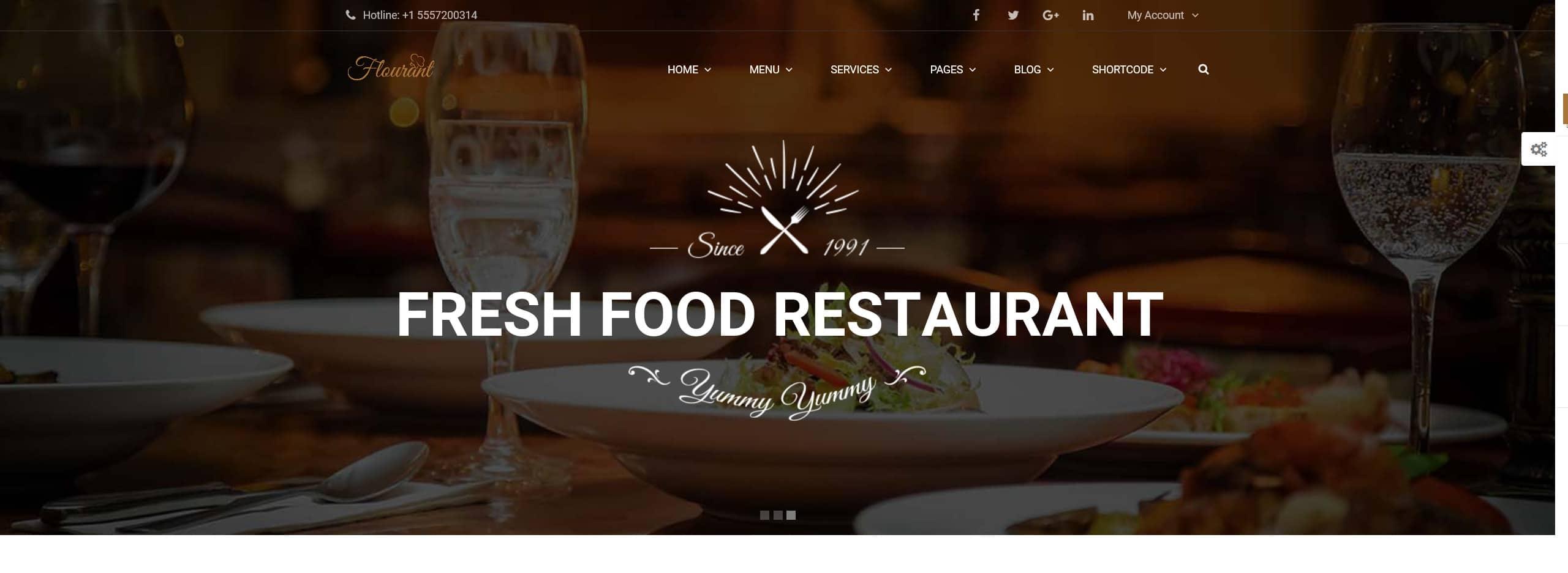 Restaurant Website Design, hilartech wordpress designs