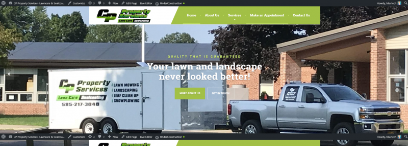 lawn care web design, landscaping web design, snow plowing web design