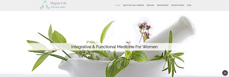 wellness website, medical website