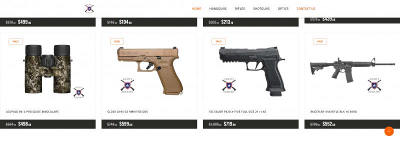 gun website ecommerce