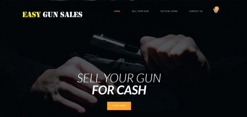 sell gun, gun website design, clothing website design, ecommerce website