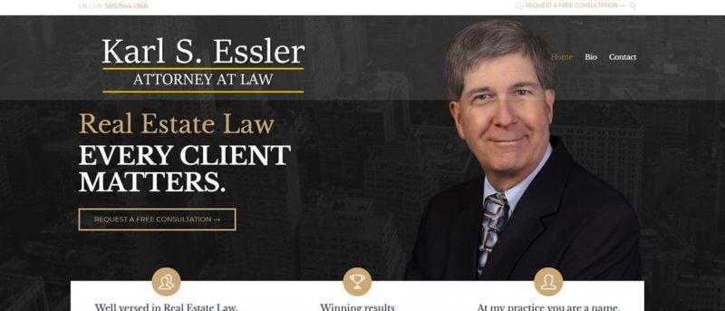 web design for attorney, law firm website design